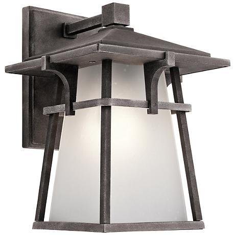 """Kichler Beckett 10 3/4""""H Zinc Small Outdoor Wall Light"""