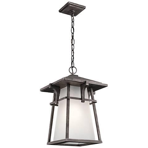 """Kichler Beckett 18 1/4""""H  Zinc Outdoor Hanging Light"""