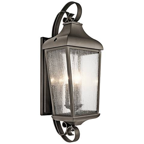 "Kichler Forestdale 30 3/4""H Old Bronze Outdoor Wall Light"