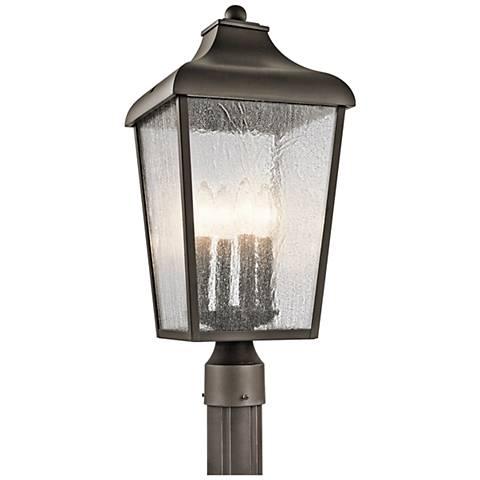 """Kichler Forestdale 21 3/4""""H Old Bronze Outdoor Post Light"""