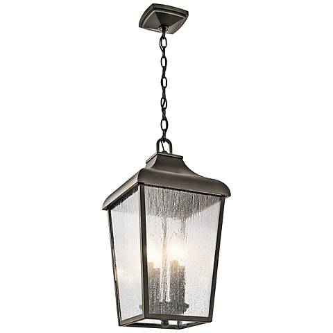 "Kichler Forestdale 19 3/4""H Old Bronze Outdoor Hanging Light"