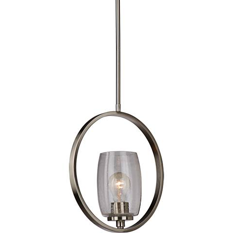 "Artcraft San Antonio 4 3/4""W Brushed Nickel Mini Pendant"