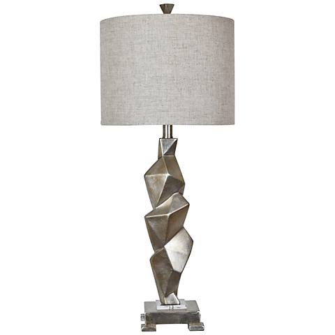 Crestview Collection Polygon Gold Leaf Table Lamp