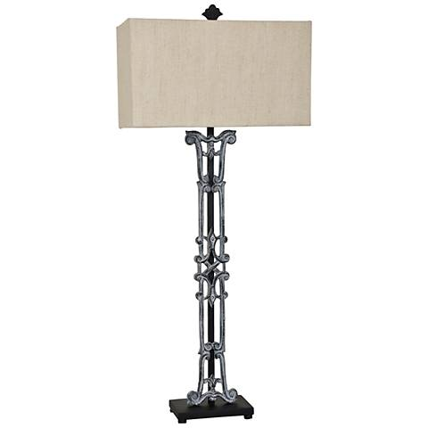 Crestview Collection Maxwell Antique Iron Table Lamp
