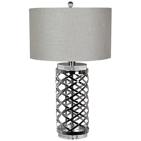 Crestview Collection Studio Chrome and Crystal Table Lamp