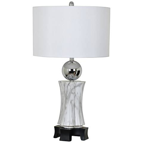 Crestview Collection Carrara White Marble Table Lamp