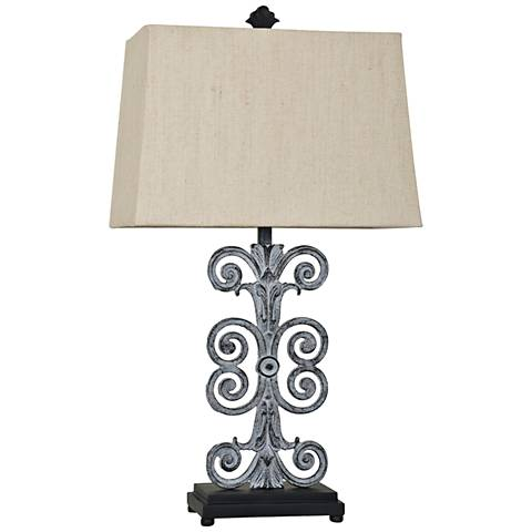 Crestview Collection Lazzaro Antique Iron Table Lamp