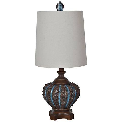 Crestview Collection Reer Shell Blue Coastal Table Lamp