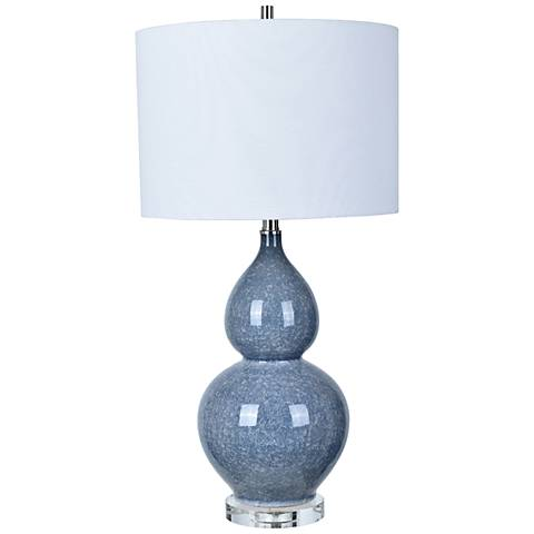 Crestview Collection Vincent Blue Ceramic Table Lamp