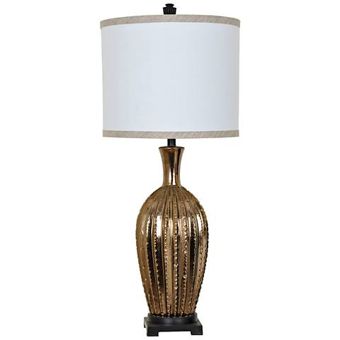 Crestview Collection Moment Toasted Gold Ceramic Table Lamp