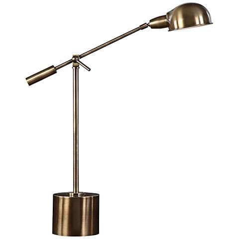 Uttermost Herndon Adjustable Antique Brass Desk Lamp