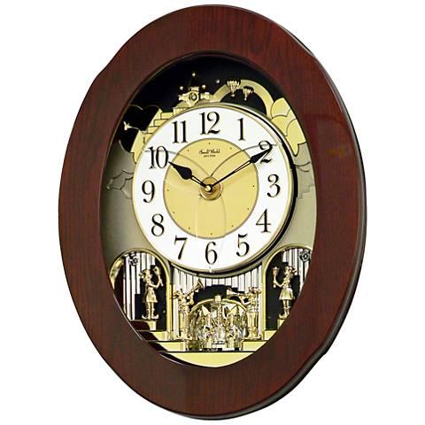 "Grand Nostalgia Entertainer Cherry 20 3/4""H Wall Clock"