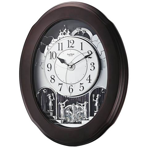 "Grand Nostalgia Entertainer Espresso 20 3/4""H Wall Clock"