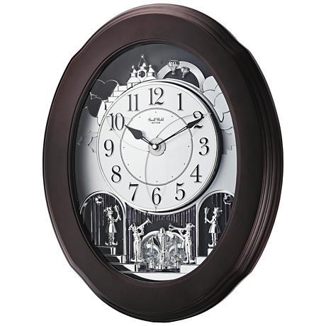 """Grand Nostalgia Entertainer Espresso 20 3/4""""H Wall Clock"""