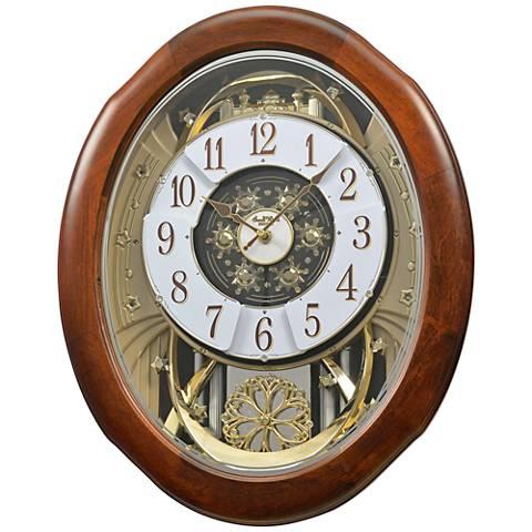 """Magnificent Walnut 21"""" High Motion Wall Clock"""