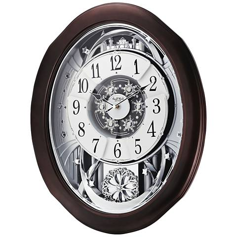 "Anthology Espresso 21"" High Motion Wall Clock"