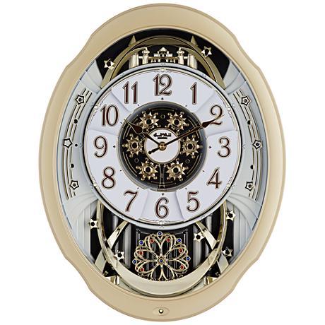 "Marvelous Aluminum 20 3/4"" High Motion Wall Clock"