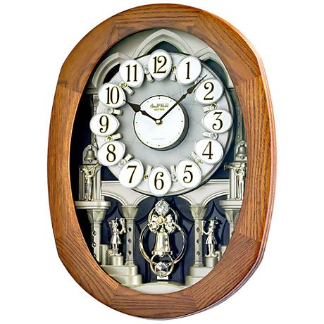 "Joyful Encore Walnut 22"" High Motion Wall Clock"