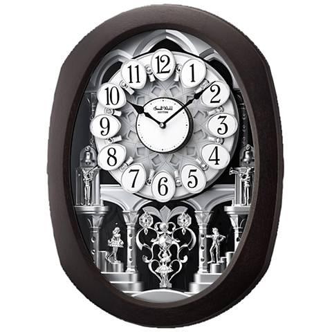 "Encore Espresso 22"" High Motion Wall Clock"
