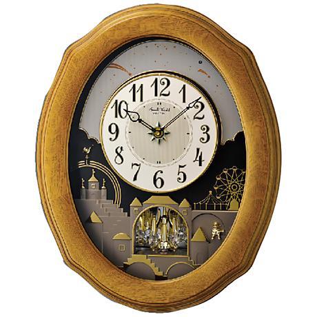 """Timecracker Golden Oak II 20 1/2"""" High Motion Wall Clock"""