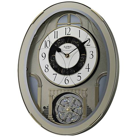 "Classic Brilliance Silver 18 1/2"" High Motion Wall Clock"