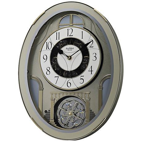 "Classic Brilliance Silver 18 1/2"" High Motion Wall Clock"