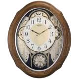 "American Gala Light Brown 20"" High Motion Wall Clock"