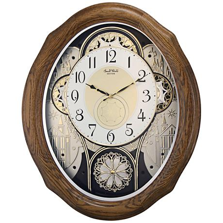 "American Gala Light Brown 20"" High Motion Wall Clock"