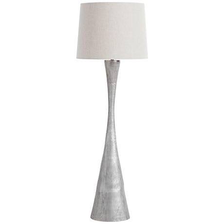Arteriors Home Narsi Modern Hourglass Aluminum Floor Lamp