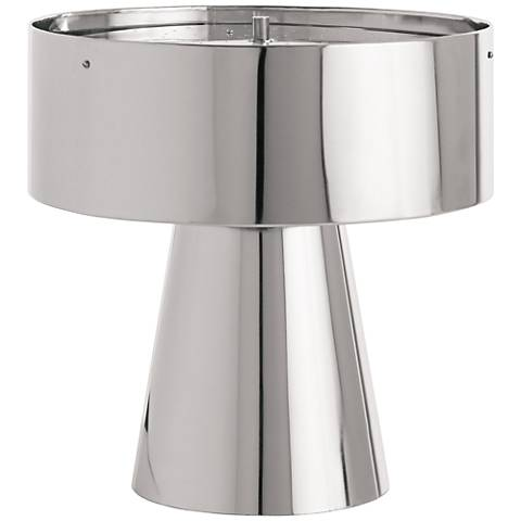 "Byron 18 1/2"" High Polished Nickel Accent Table Lamp"
