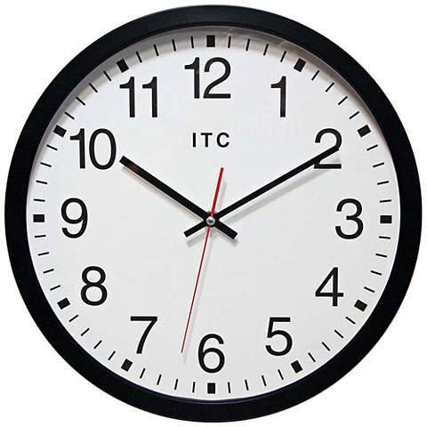 """Obsidian Black Metal 14"""" Round Wall Clock"""