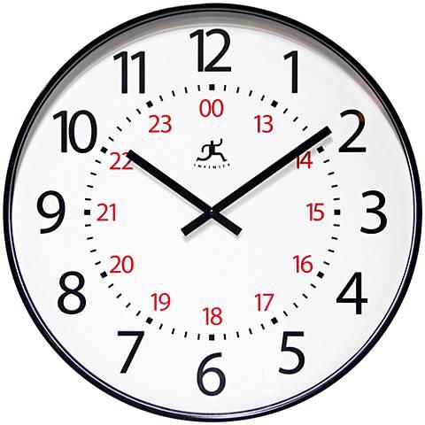 "Mercantile Black 20"" Round Wall Clock"