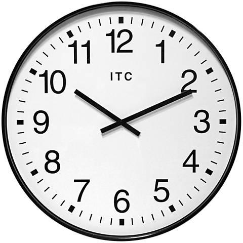 "Clarke Black 20"" Round Wall Clock"