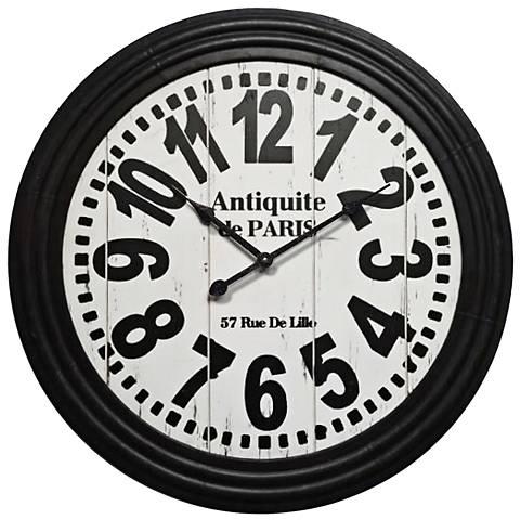 "Tahoma Black 31 1/2"" Round Wall Clock"
