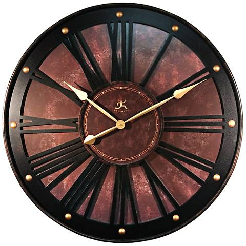 "The Arcadian Bronze 12"" Round Wall Clock"
