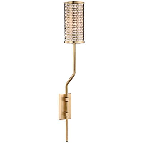 "Hudson Valley Hugo 25 1/2"" High Aged Brass Wall Sconce"