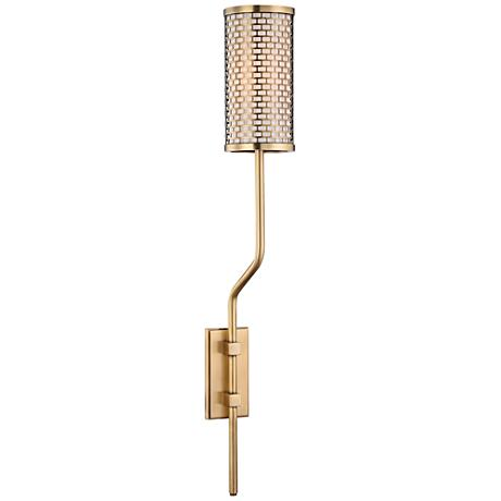 """Hudson Valley Hugo 25 1/2"""" High Aged Brass Wall Sconce"""