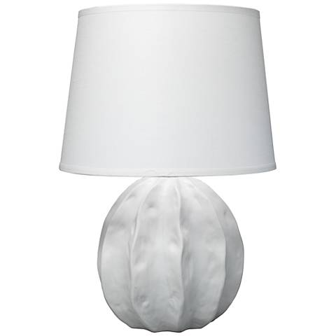 Jamie Young Urchin Coastal Matte White Ceramic Table Lamp