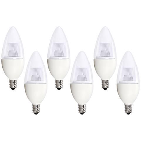 40W Equivalent Bioluz 5W LED Dimmable Candelabra Bulb 6-Pack