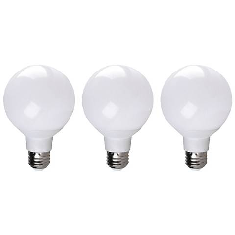 40W Equivalent 6W LED Dimmable Standard Globe Bulb 3-Pack