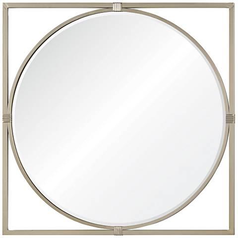 """Cooper Classics Shelley Silver 36"""" Square Wall Mirror"""
