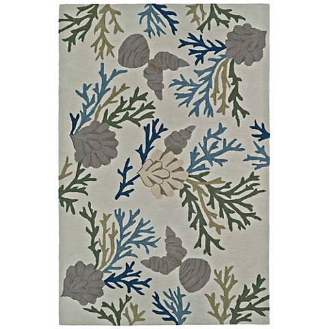 Dalyn Seaside Linen Shells Rectangle Area Rug