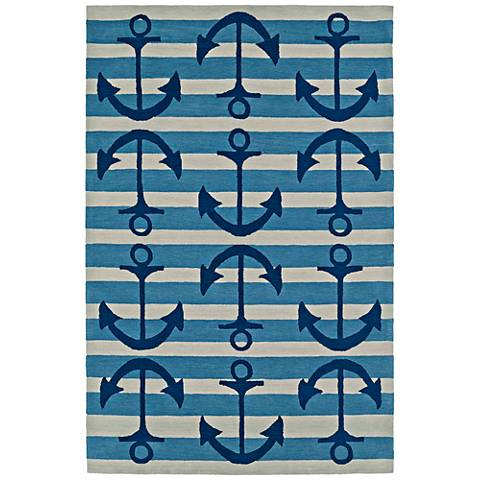 Dalyn Seaside Ocean Anchors Rectangle Area Rug