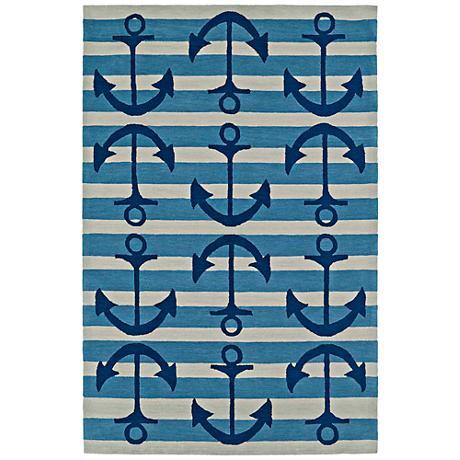 Dalyn Seaside Ocean Anchors Rectangle Area Rug