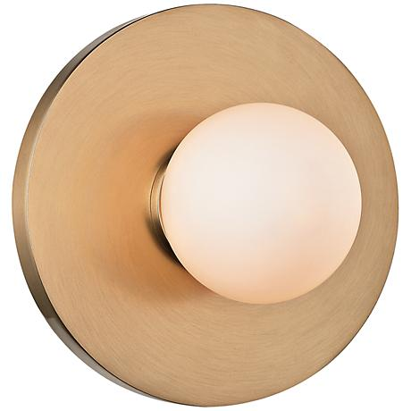 """Hudson Valley Taft 4 3/4""""H Aged Brass LED Wall Sconce"""