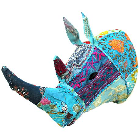 "Blue Rhino 12"" Wide Vintage Chic Textile Wall Sculpture"
