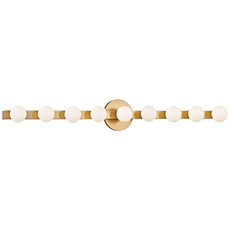 "Hudson Valley Taft 35"" Wide Aged Brass LED Bath Light"