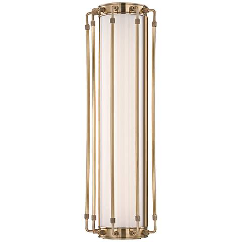 "Hyde Park 23 1/2"" High Aged Brass LED Wall Sconce"