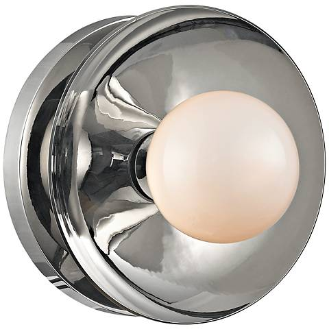"""Hudson Valley Julien 4 3/4""""H Polished Nickel LED Sconce"""