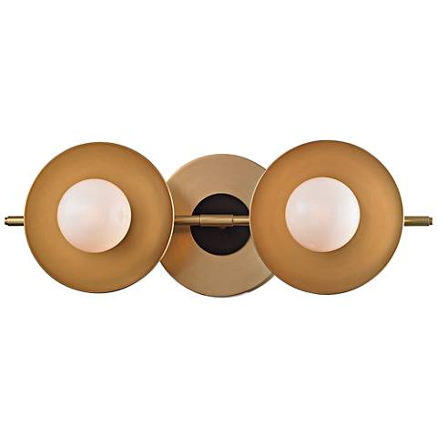 "Julien 4 3/4""H 2-Light Aged Brass LED Bath Light"